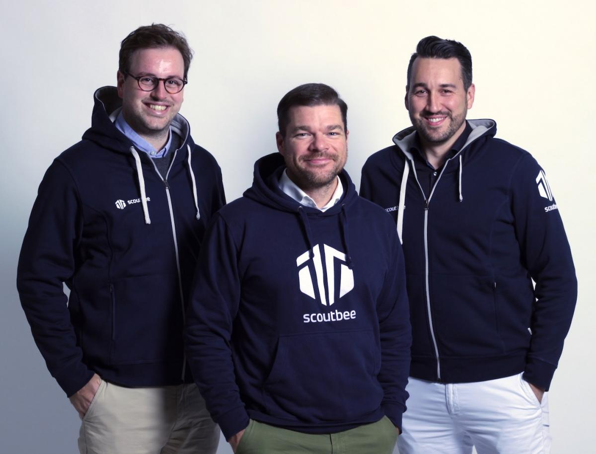 scoutbee is led by managing directors (from left) Fabian Heinrich, Gregor Stühler and Lee Galbraith